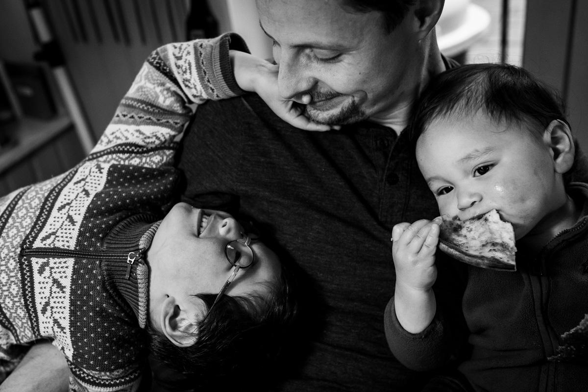 Polina Subbotina Familienfotografie.. Vater mit zwei Söhnen.