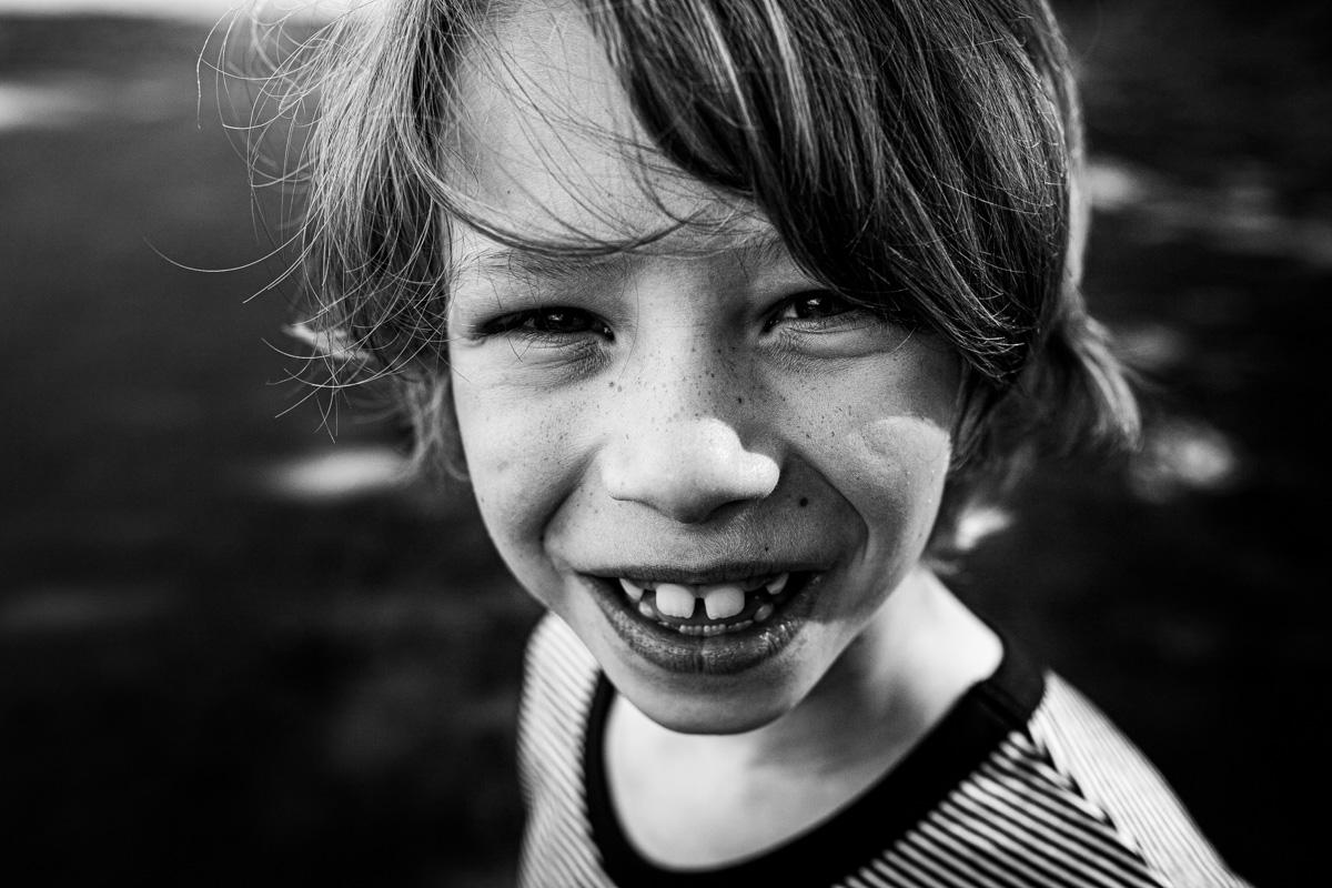 Portrait eines Jungen.