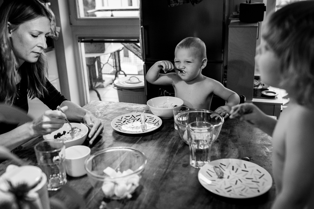 Familienfrühstück.