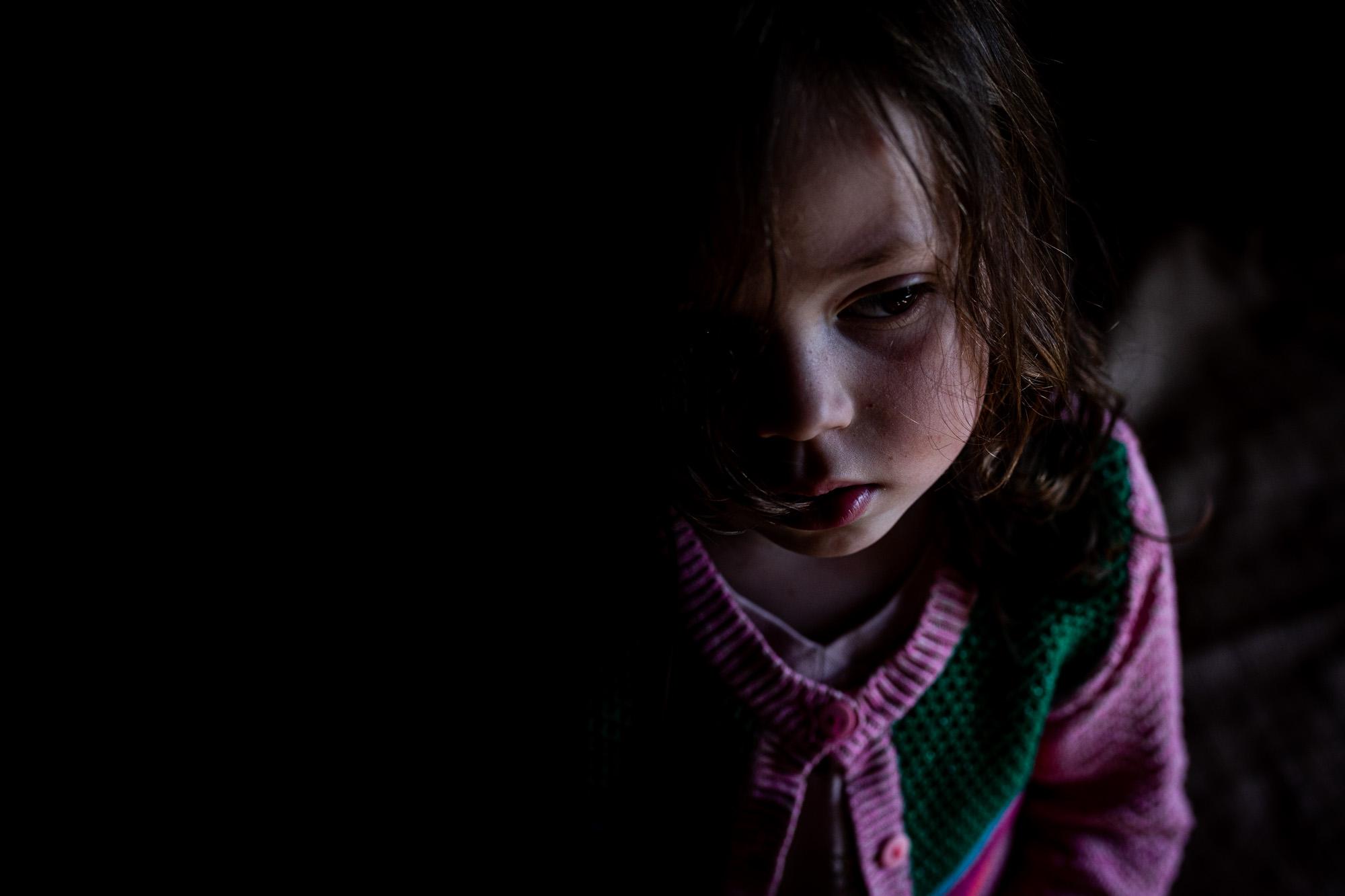 Ein Mädchenportrait.